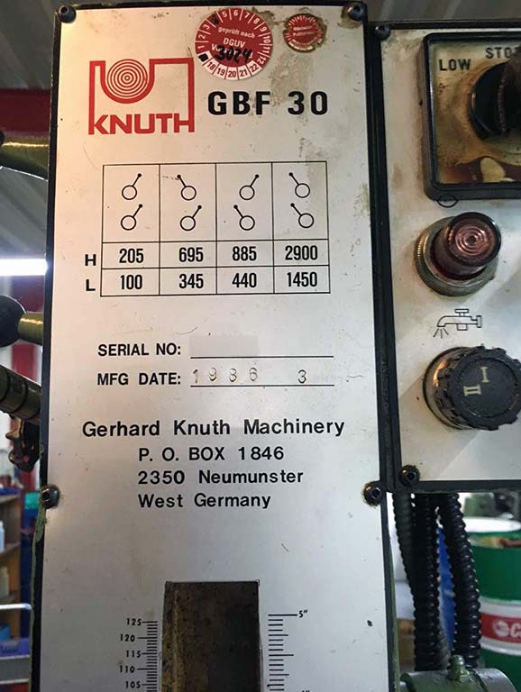 Drilling and Milling Machine KNUTH GBF 30 Image-4